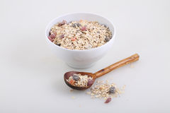 Porridge with dried fruits and nuts Stock Image