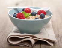 Porridge with fresh berries Royalty Free Stock Images