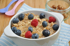 Porridge with fresh berries Royalty Free Stock Photo