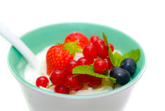 Porridge with fruit. Royalty Free Stock Photo