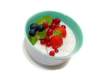 Porridge with fruit. Royalty Free Stock Photography