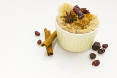 Porridge with garnish Royalty Free Stock Image