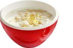 Porridge with Honey Stock Photo