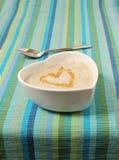 Porridge In A Heart Shaped Bowl Stock Photo