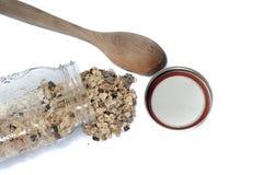 Porridge in a mason jar Royalty Free Stock Photo