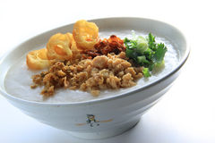 Porridge With Meat. Chinese style porridge with meat and topping Stock Photography