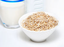 Porridge and milk Royalty Free Stock Photos