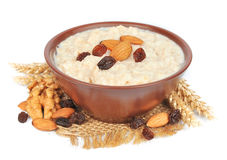 Porridge with nuts Stock Image