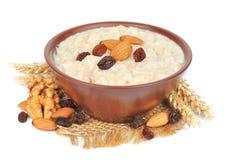 Porridge with nuts Stock Image