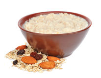 Porridge with nuts stock photography