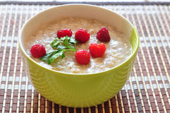 Porridge of oat-flakes with berries Royalty Free Stock Images