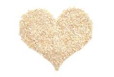 Porridge oats in a heart shape Royalty Free Stock Image