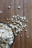 Rolled oats healthy muesli ingredient stock image