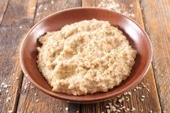 Porridge, pasto dell'avena immagini stock