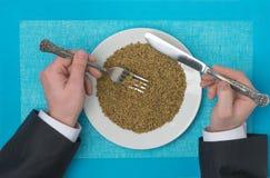 Porridge in a plate Royalty Free Stock Photo