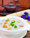 Porridge, Porridge (congee) served in claypot Stock Images