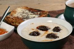 Porridge with prunes Royalty Free Stock Photos