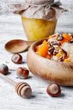 Porridge with pumpkin and honey Royalty Free Stock Photo