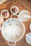 Porridge rassodato della prima colazione tailandese Fotografia Stock Libera da Diritti