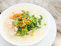 Porridge rice gruel in bowl. Stock Photography