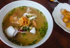 Porridge with seafood. Close up Porridge with seafood Stock Photos