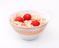 Porridge with strawberry Royalty Free Stock Photo