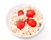 Porridge with strawberry Royalty Free Stock Photography