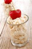 Porridge with strawberry Stock Photo