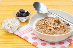 Porridge with walnut Royalty Free Stock Image