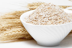 Porridge and Wheat ears Royalty Free Stock Images