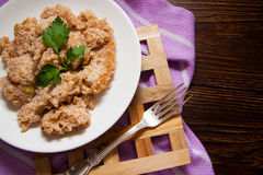 Porridge with wheat germs Stock Image