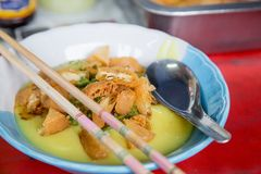 Porrige del tofu Fotografie Stock