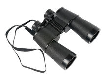 Porro-prism binoculars. Isolated on the white background Stock Image