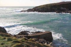 Pors Tarz hamn i Brittany Arkivfoto