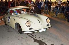 Porsche356 1954, σε 1000 μίλια φυλών Στοκ φωτογραφία με δικαίωμα ελεύθερης χρήσης