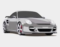 Porsche. Illustration of a porsche 911 turbo Royalty Free Stock Photos
