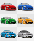 Porsche. Illustratin of a porsche 911 turbo Royalty Free Stock Photography