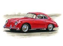 Porsche 356 illustration de vecteur