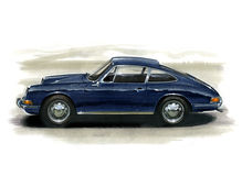 Porsche 912 illustration stock