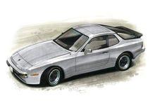 Porsche 944 illustration stock