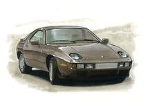 Porsche 928 illustration libre de droits