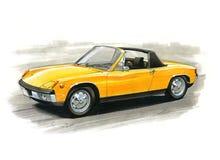 Porsche 914 illustration stock