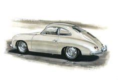Porsche 356 illustration stock