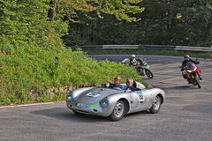 Porsche 550 RS Spyder (1957) in historical race Mille Miglia 201 Stock Image