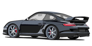Porsche 911. Illustration of a Porsche 911 turbo 2006 Royalty Free Stock Image