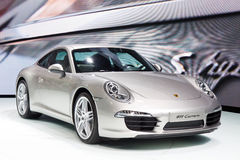 Porsche 911 Carrera. FRANKFURT - SEP 24: Porsche 911 Carrera shown at the 64th IAA Motor Show (Internationale Automobil-Ausstellung) in Frankfurt, Germany, on Royalty Free Stock Images