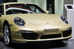 Porsche 911 Carrera front Royalty Free Stock Images