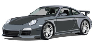 Porsche 911 carrera, front view Royalty Free Stock Image