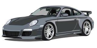 Porsche 911 carrera, front view. Illustration of a Porsche 911 carrera, front view Royalty Free Stock Image