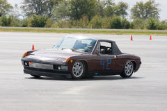Porsche 914 Autocrossing royalty free stock image